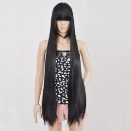 Jigoku Shoujo - Hell Girl - Enma Ai pitkä suora musta peruukki