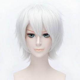 Cosplay lyhyt valkoinen peruukki