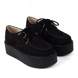 Muodikkaat mustat paksupohjaiset creeper kengät