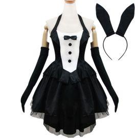 Mustavalkoinen Lolita bunny meido-asu