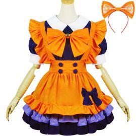Oranssi Lolita meido-asu