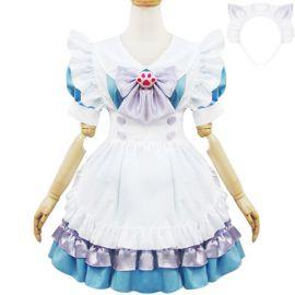 Sinivalkoinen Lolita meido-asu