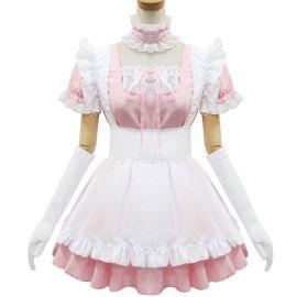 Vaaleanpunainen Lolita meido-asu