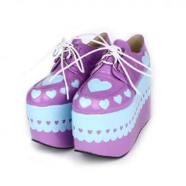 Cosplay lolita skor med tjock sula