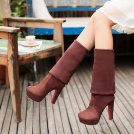 Women's platform mocca boots