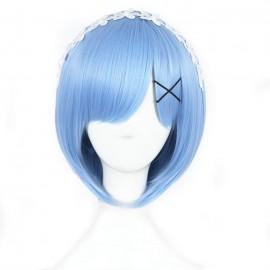 Re:Zero - Rem lyhyt vaaleansininen peruukki