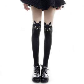 Kissakuvioiset sukkahousut
