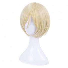 Yuri!!! on Ice - Yuri Plisetsky lyhyt vaalea peruukki