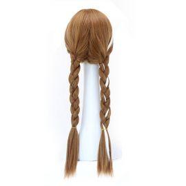 Cosplay pitkä turkoosinvihreä kihara peruukki poninhännillä